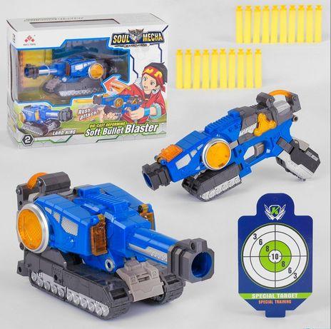 Пистолет бластер трансформер SB 482 с мягкими пулями и мишенью