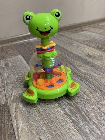 Юла, игрушка лягушка