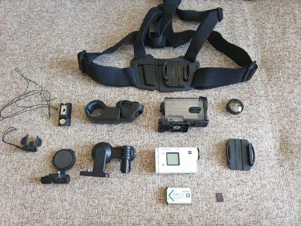 Sony Action Cam AS200V + Akcesoria