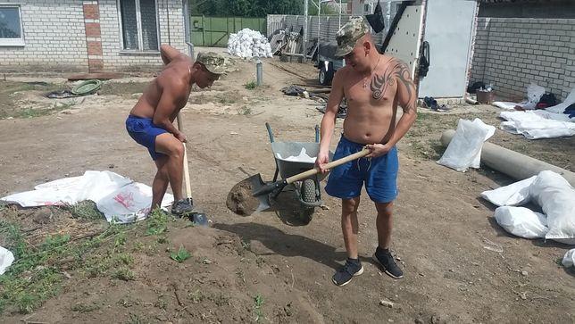 Копка Быстро Земляные работы,ямы ,траншеи ,планировка ,кольца Харьков