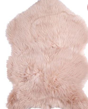 Dywanik 60x90 skóra owcza-różowy