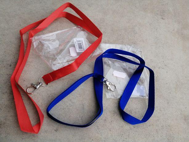 Lanyards/ fitas/ porta chaves azul vermelho NOVO