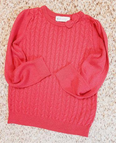 Нежный нарядный свитер / джемпер /кофта H&M для девочки, р.104-110