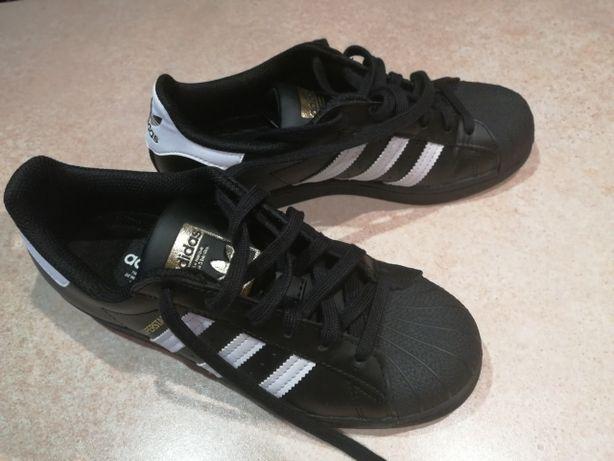 Sneakersy Superstar damskie firmy Adidas - rozmiar 37 1/3 - czarne