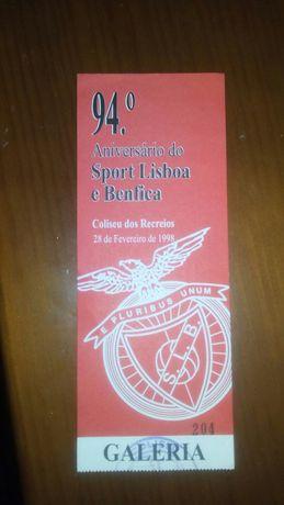 Bilhete S.L.B 94° Aniversario (28-Fev-1998)