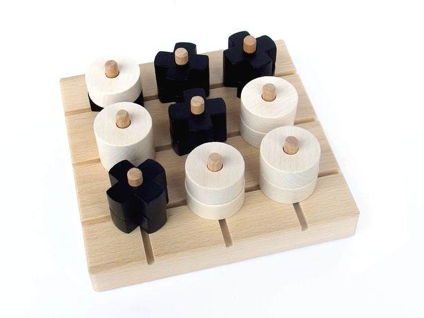 Gra logiczna drewniana kółko i krzyżyk