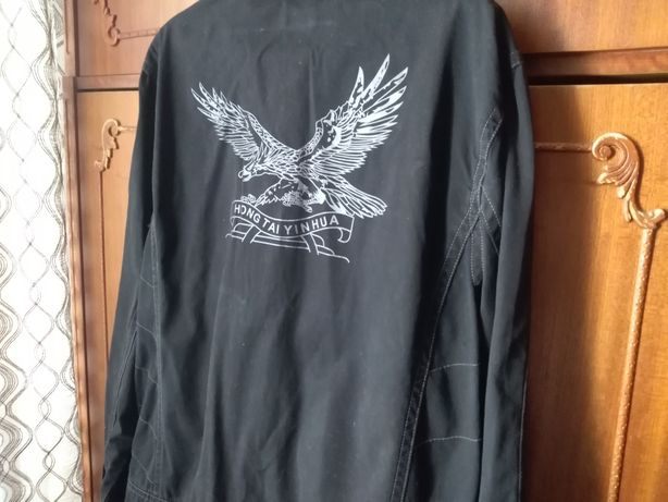 Джинсовая куртка с орлом