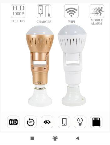 Câmara wi-fi formato de lâmpada