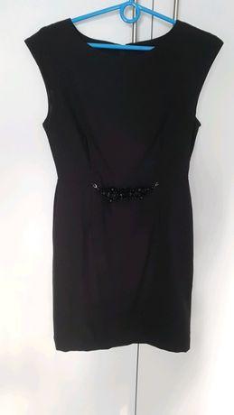 Rozmiar S, elegancka czarna sukienka, sukienka na wesele