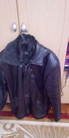 Кожаная курточка мужская зимняя
