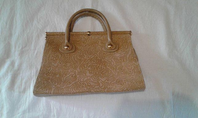 сумка женская, бежевая