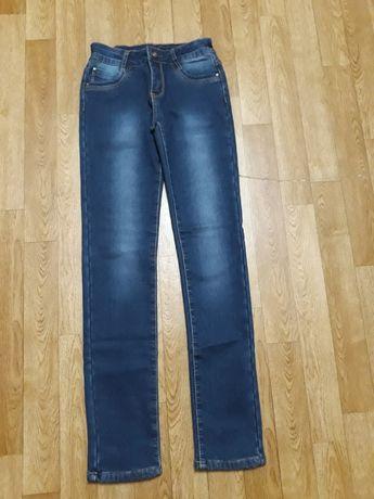 Зимние тёплые джинсы на флисе