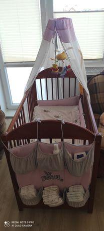 Baldachim, organizer/przybornik, ochraniacz do łóżeczka dziecięcego