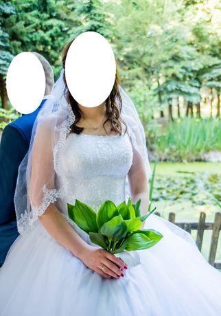 Suknia ślubna Agnes biała 42, gratis buty, Drezdenko