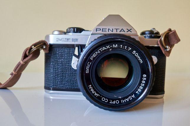 Pentax ME Super с объективом Pentax-M 50mm f1.7 + Pentax-M 75-150mm f4