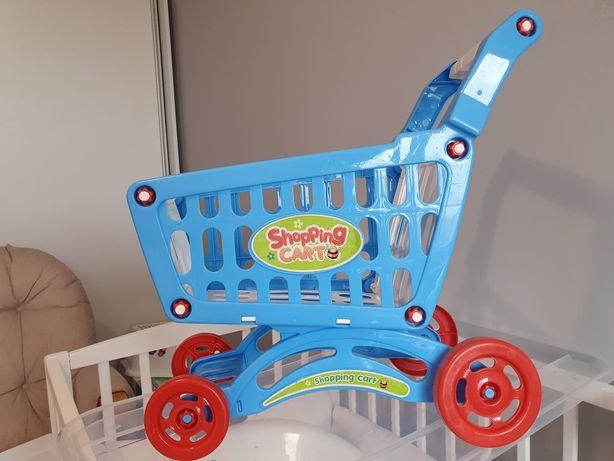 Zabawkowy wózek sklepowy