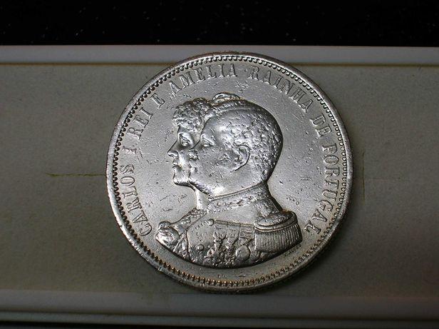 Moeda 1000 Reis - 1898 / D.Carlos I / Prata