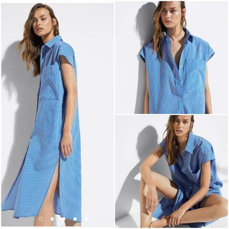 Рубашка-платье Massimo Dutti L