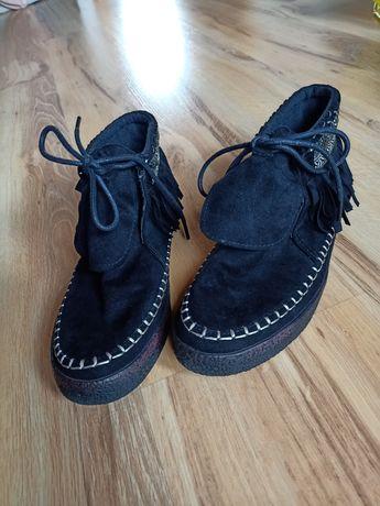 Czarne jesienne botki