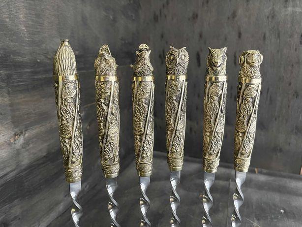 Шампура ручной работы. Бронзовые шампура, Г-образные наличие Киев