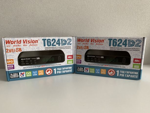 Т2 ресивер World Vision T625D2