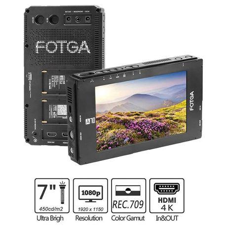 """Monitor podglądowy FOTGA A70 7"""" 4K UHD FHD"""
