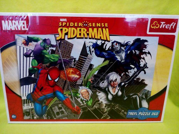 Puzzle Trefl, Marvel Spiderman, 260 klocków, NOWE