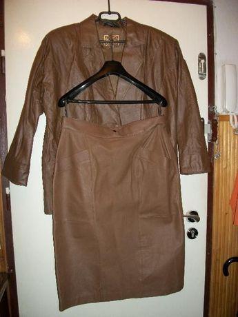 OKAZJA.Komplet:Spódnica + kurtka skórzana zagraniczna.Super stan.
