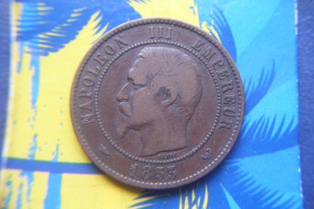 Stare monety 1853 Francja Żeton wizyta Casarza w Lille 1853