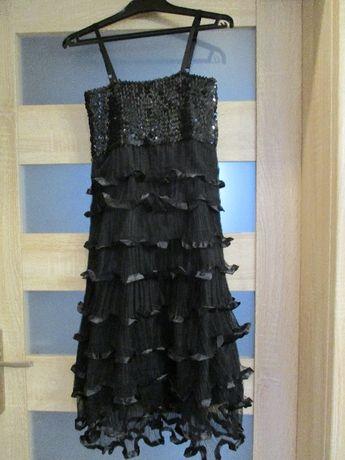 czarna sukienka S imprezowa nowa