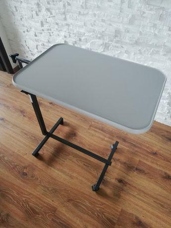 Stolik przyłóżkowy na kółkach dla leżącego, regulowany, śniadaniowy