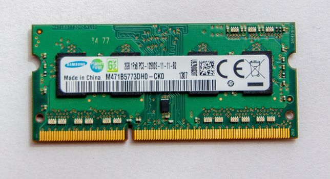 Pamięć laptop SAMSUNG 2GB DDR3 PC3 12800S 1600MHZ