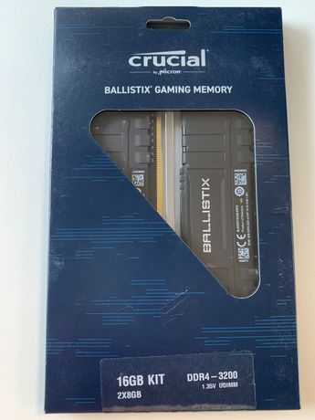 Pamięć RAM Crucial BallistiX 16GB (2x8GB) DDR4 3200MHz (BLK8G32C16U4B)