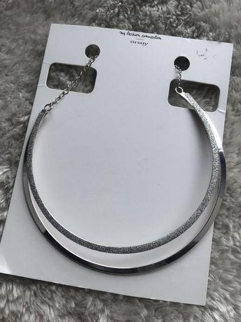 Naszyjnik srebrny orsay