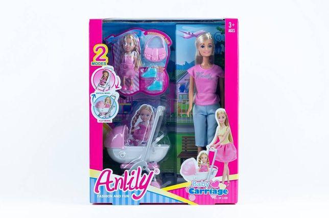 Lalka Anlily 30 cm z dzieckiem i wózkiem