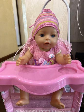 Baby Born оригинал с одеждой и кроваткой