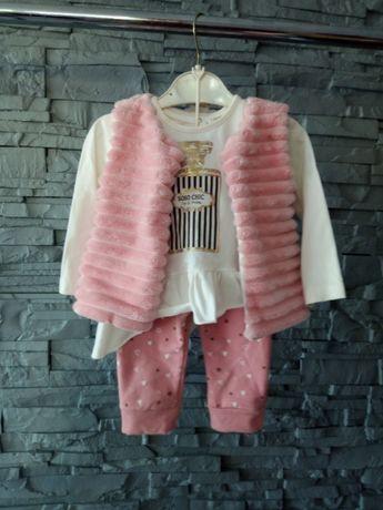 komplet - bluzeczka+spodnie+kamizelka