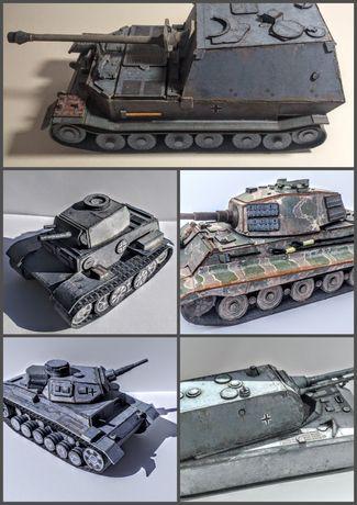 Модели танков 5шт. М 1:50. Цена за всё. (картон+пластик)