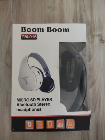 Słuchawki Boom Boom Bluetooth stereo radio MP3 player