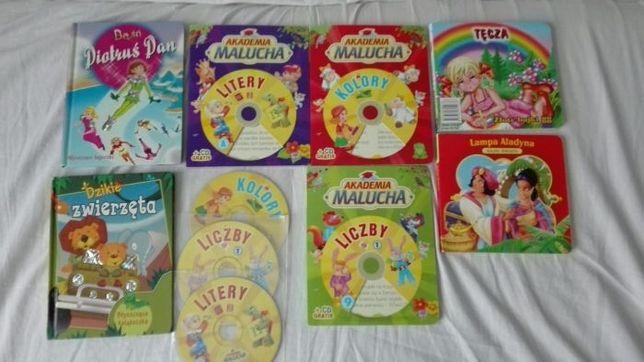 Zestaw książeczek dla dzieci z płytą cd
