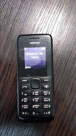 Телефон Nokia 105 кнопочный черный (RM-908)