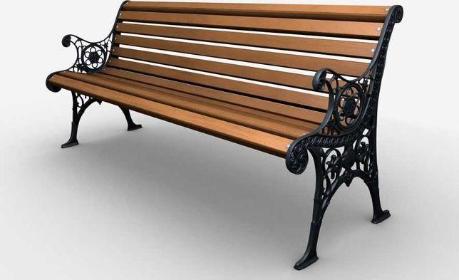 Ławka żeliwna ogrodowa, parkowa na taras id.0121