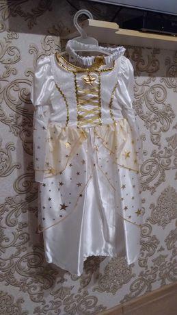 Платье Феи Белое с повязкой на голову