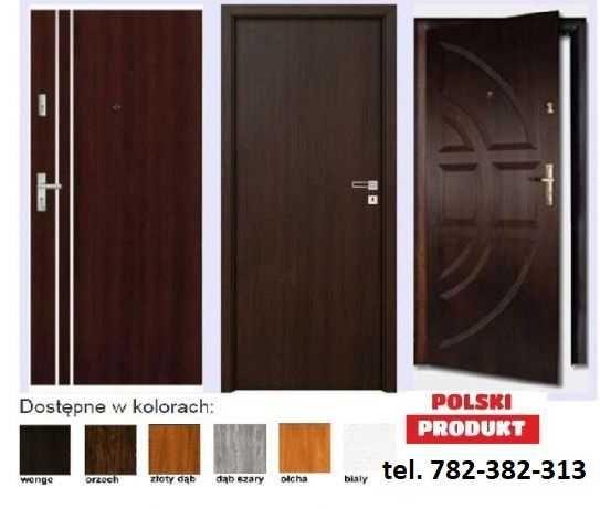 Drzwi z montażem do bloku - wewnatrzklatkowe
