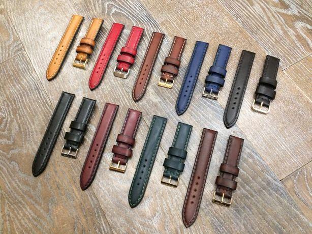 Ремешок, браслет для часов ручной работы из натуральной кожи