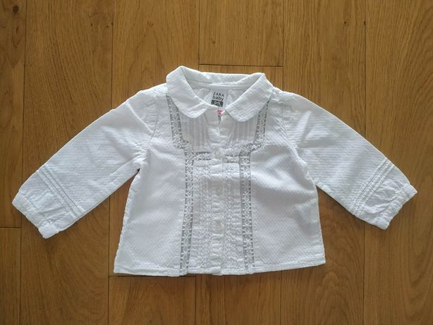 74 Zara koszula bluzka z długim rękawem święta biała