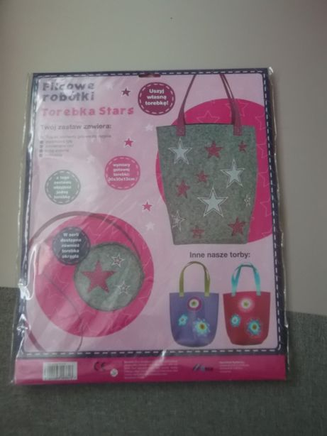 Filcowe robótki-Torebka Stars