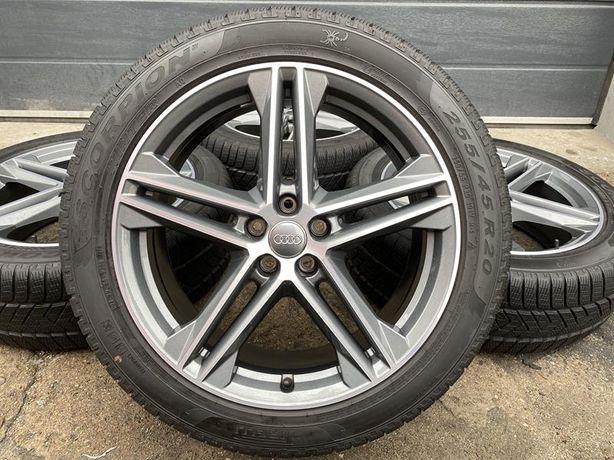 Oryginał koła 255/45R20 Audi 80A Q5 SQ5 speedline 7,6mm Pirelli zima
