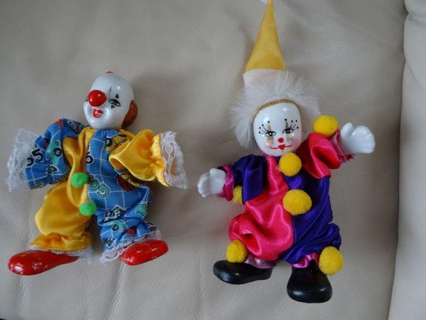 lalka, klaun, porcelanowy, pajac, 2 szt