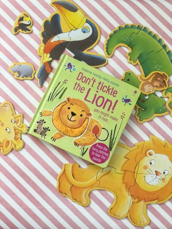 Don't tickle the lion ,Usborne ,тактильно-музыкальная книга
